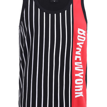 Color Block Striped Tank Top