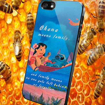 Lilo & Stitch Ohana Means Family for iPhone 4/4S/5/5S/5C Case, Samsung Galaxy S3/S4/S5 Case, iPod Touch 4/5 Case