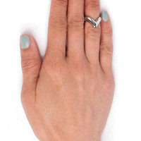 In V-Tro Mid Knuckle Ring $8 (on sale from $12)