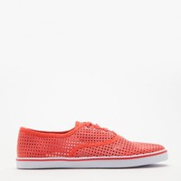 Mesh Top Sneaker In Coral