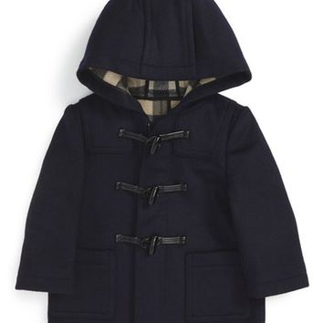 Burberry Brogan Hooded Wool Toggle Coat (Baby Boys) | Nordstrom
