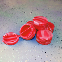 Red White Swirly Silicone Case / Silicone Split Container Weed Storage Dab Tool Smoke Accessories Dab Container 420 Marijuana Oil Container