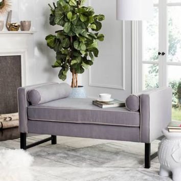 Safavieh Couture Anton Settee in Grey