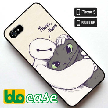 Baymax and Toothless Iphone 5 Rubber Case