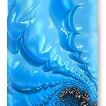 Abstract Blue Winter Fractal IPhone 7 Case