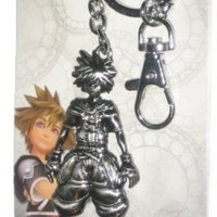 Kingdom Hearts Pewter Key Ring - Sora