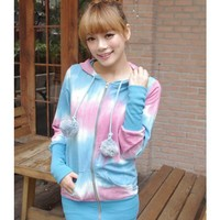 Blue Apparel Women Clothing New Style Autumn Apparel Long Sleeve Hood Zipper Cotton Long Coat One Size @GP0010bl $17.22 only in eFexcity.com.