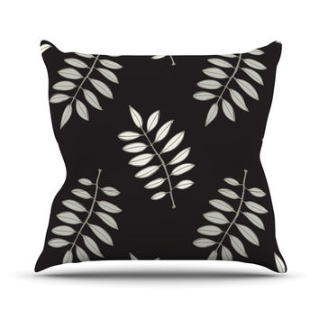 "Laurie Baars ""Pagoda Leaf"" Floral Illustration Throw Pillow"