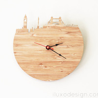 London Modern Wall Clock by iluxo on Etsy