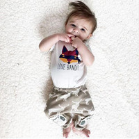 SY141 Fox sets summer children's clothes set t-shirt + pants suits Clothing for newborn baby boys clothes children's clothing