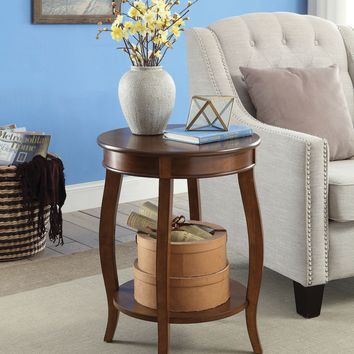 Amiable Side Table, Walnut brown By ACME
