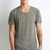 Speckled Raw Edge Tee