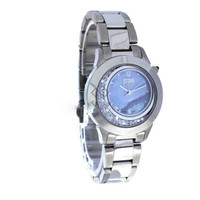 NEW Ladies Stainless Steel SENTINI Storm Watch Pearl Sapphire glass cubic