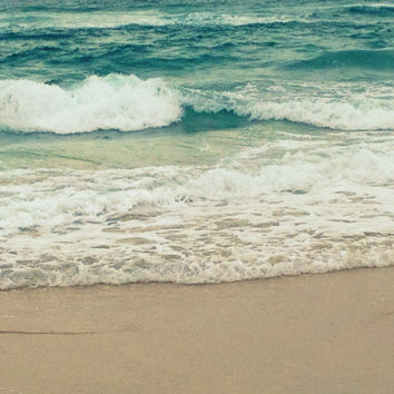 Beach and Ocean Photography Turquoise and Teal Sea by beachbumchix