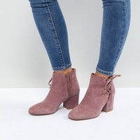 Hudson London Else Pink Suede Ankle Boots at asos.com