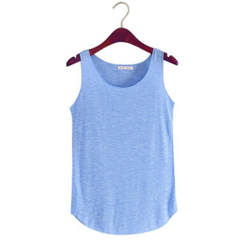 Multicolor Women   workout Fitness Vest Singlets O Neck Sleeveless Tank Tops Women Shirts Female Camisole Femme BL