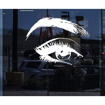 Window Mural and  Wall Vinyl Decal Eyelashes Eye Makeup Home Interior Decor Unique Gift z4684