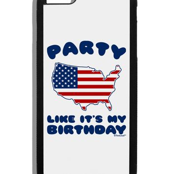 Party Like It's My Birthday - 4th of July Black Dauphin iPhone 6 Plus Cover by TooLoud