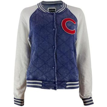 ESBGQ9 Chicago Cubs - Logo Brownstein Juniors Baseball Jacket