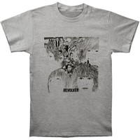 The Beatles Revolver Cover Adult T-shirt - Heather Grey (Large)