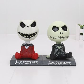 10cm The Nightmare Before Christmas Jack Moving Head PVC Action Figure Collection Toys Accessories