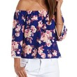 Multi Floral Print Off-the-Shoulder Top by Charlotte Russe