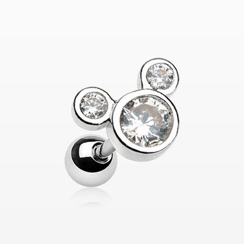 Bubble Eyes Sparkle Cartilage Tragus Barbell