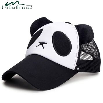 Trendy Winter Jacket New Fashion Mesh Adult Panda Baseball Caps Casual Men Women Snapback Cap Breathable Spring Summer Sun Protection Cotton Hat AT_92_12