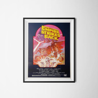 Star Wars Poster, Vintage Movie Poster, Digital Download, 300dpi