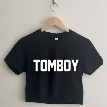 Tomboy Varsity Typography Crop Top