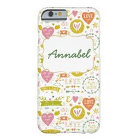Quirky Romantic themed Custom iPhone Case