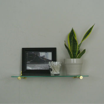 Glass Floating Rod Shelf