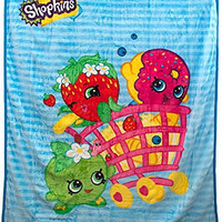 Shopkins Shopping Basket Characters Plush Throw Blanket - Kids