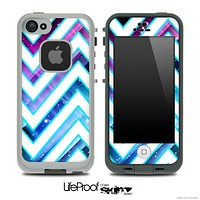 Large Chevron and Blue Magic Skin for the iPhone 5 or 4/4s LifeProof Case