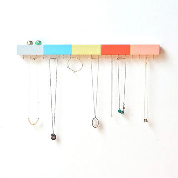Jewelry Organizer - Necklace Holder - Necklace Organizer - Wood Wall Decor - Jewelry Hanger - Necklace Storage - Jewelry Storage