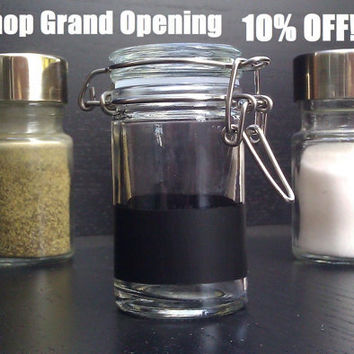 Chalkboard Spice Jar - customize your spice canisters - gifts and personalized housewares and decor