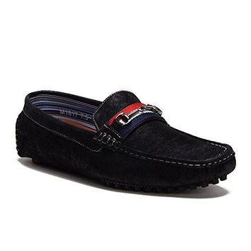 New Men's M1817 Designer Horsebit Buckle Driving Loafer Shoes