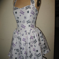 Custom made to order Justin Bieber Sweetheart Ruffled Mini Dress for Kayla