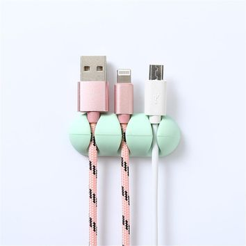 USB charger holder high quality Cable Wire Earphone organizer Desktop phone data line wrapped Protector Management