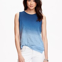 Old Navy Womens Slub Knit Sleeveless Tees