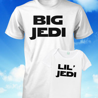 Father and Son Shirt Set Big Jedi Little Jedi by FunhouseTshirts