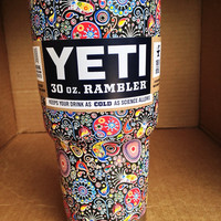 Hydro Dipped Yeti Cup - Paisley