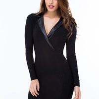 Tuxedo Bodycon Dress GoJane.com