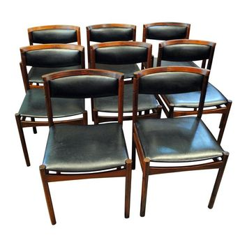 Pre-owned Danish Rosewood Dining Chairs by Sax - Set of 8
