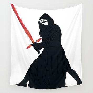Kylo Ren Wall Tapestry by Paula Oliveira