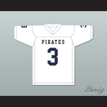 Nino Alibegic 3 Independence Community College Pirates White Football Jersey