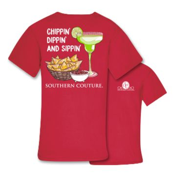 Southern Couture Chippin Dippin Sippin Comfort Colors T-Shirt
