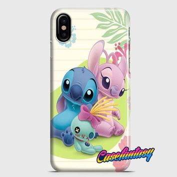 Stitch Angel Plush iPhone X Case