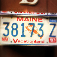 "Upcycled Wall Mount Maine ""Vacationland"" Vintage License Plate Mailbox"