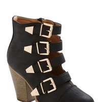 Edge of Eminence Bootie in Black | Mod Retro Vintage Boots | ModCloth.com